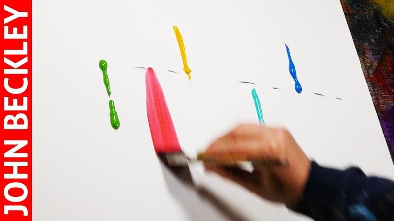 Démonstration Peinture Abstraite à l'Acrylique Malva