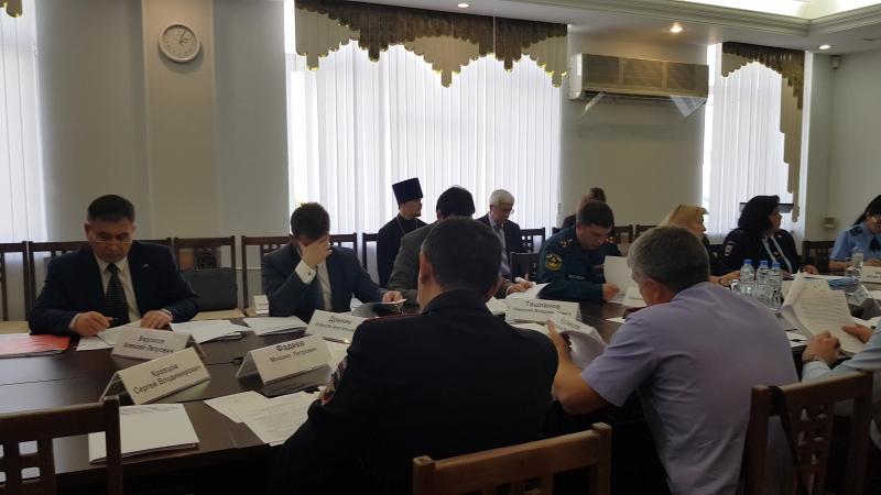 Заседание окружной Комиссии по делам несовершеннолетних и защите их прав