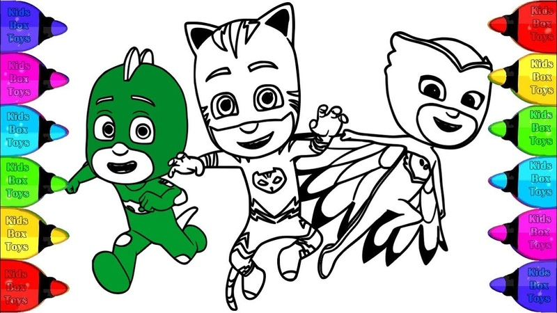 Coloring PJ Masks Catboy, Owlette Gekko Coloring Pages | How to Coloring PJ MASK