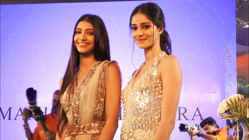 Ananya Panday and Alanna Panday at Manish Malhotra Fashion Show 2018