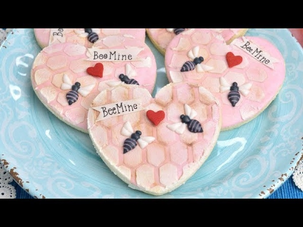 BEE MINE HONEYCOMB COOKIE by HANIELAS