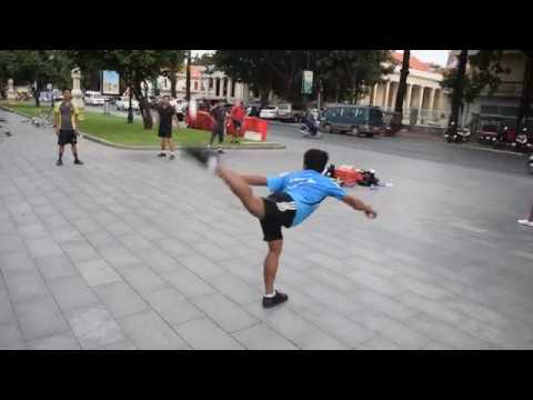 Jianzi - Foot Badminton in Cambodia (Shuttlecock Kicking)