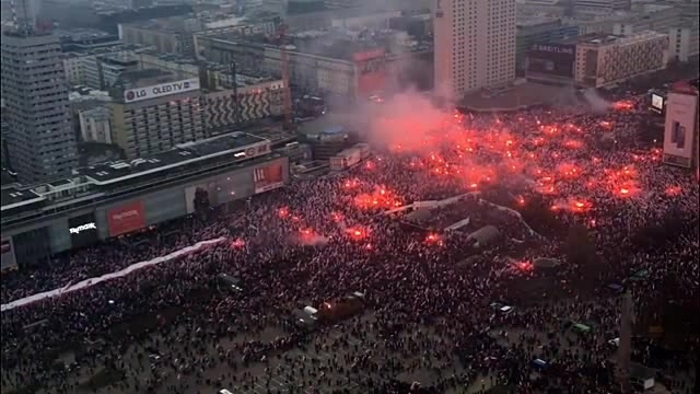 Poland's National Independence Day in Warsaw - 100th anniversary