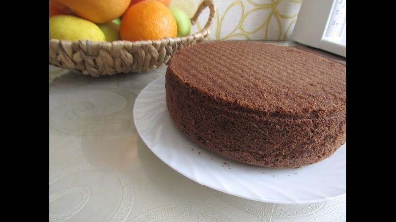 шоколадный бисквит!Быстро и просто!!