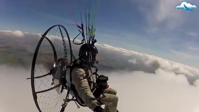 Парение и полёт над облаками на парамоторе АЛЬТАИР-100М _ Thermal soaring on ALT