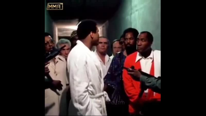 Мухаммед Али перед боем с Форманом ve[fvvtl fkb gthtl ,jtv c ajhvfyjv