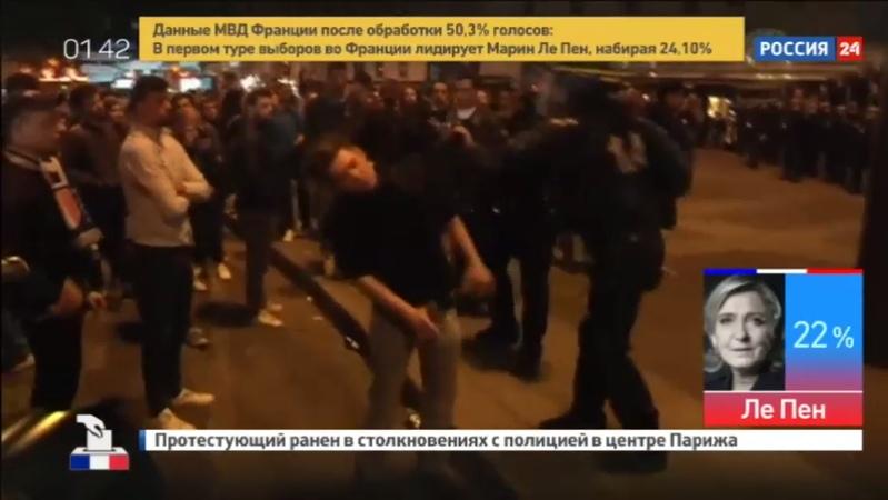Новости на Россия 24 • Франция сделала свой выбор: пока считают голоса, на улицах бушует толпа » Freewka.com - Смотреть онлайн в хорощем качестве