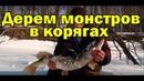 ШОК!ЩУКА ЧУТЬ НЕ ОТКУСИЛА РУКУ. Рыбалка на раттлин в корягах. Трофейные окуни и щуки со льда.