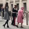 """""""The Queen and Duchess of Cambridge arrive to @lifeatkings to open Bush House. Video by @emilynashhello"""
