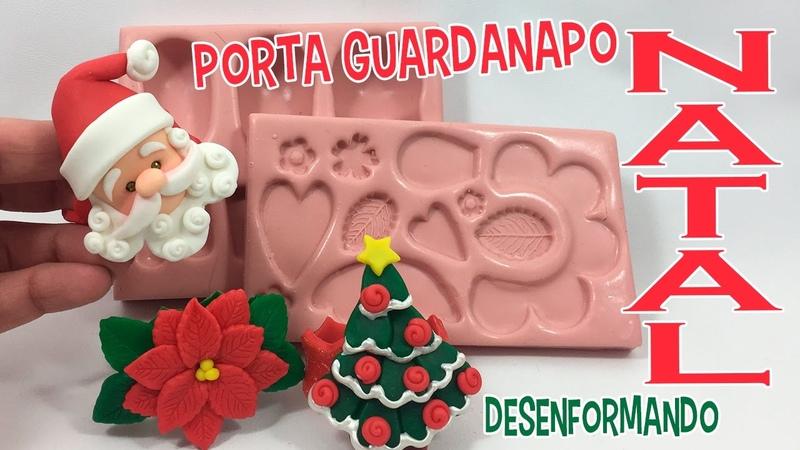 DIY - Porta guardanapos de Natal em BISCUIT ( Molde Priscila Canhadas) -DESENFORMANDO
