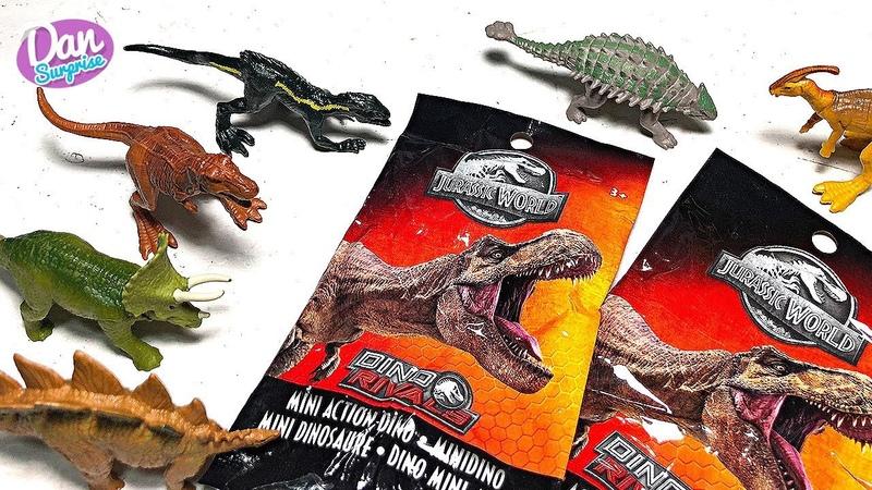 20 New Dino Rivals Mini Dinosaur Toys Surprise Blind Bags! Jurassic World T-Rex, Indoraptor more!