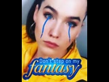 """I HAVE BLUE BRAIDS GROWING OUT OF MY EYEBALLS! Create your own fantasy today by typing """"Sofi Tukker"""" into the gif section in IG"""