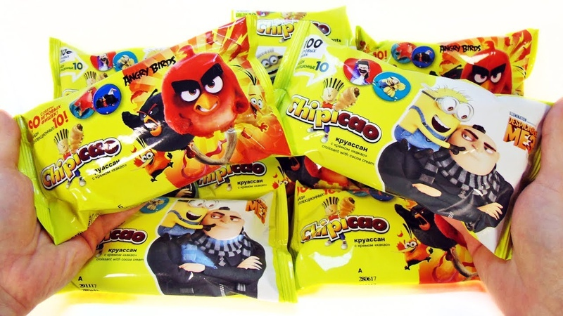 ЧИПИКАО ГАДКИЙ Я 3 против ЭНГРИ БЕРДЗ СЮРПРИЗЫ с фишками Chipicao Angry Birds Despicable Me 3