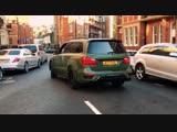 Brabus Mercedes Benz GL B63S 700 Widestar BiTurbo in green matte - sound, revs