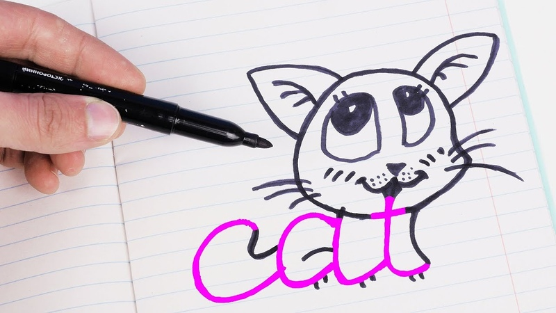 6 FUNNY KIDS TRICKS TO DRAW IN JUST 1 MINUTE