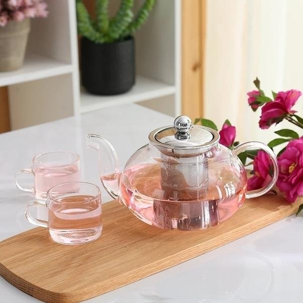 Стеклянный набор для чая – 🔥 © alipab.ru.