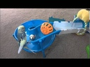 Different techniques that a budgie uses to retrieve his toy