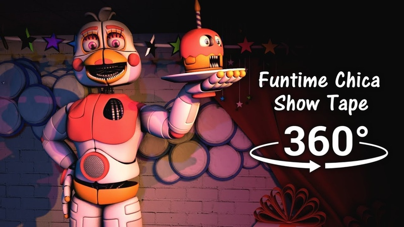360°  Funtime Chica Show Tape - Five Nights at Freddy's Sister Location [SFM] (VR Compatible)