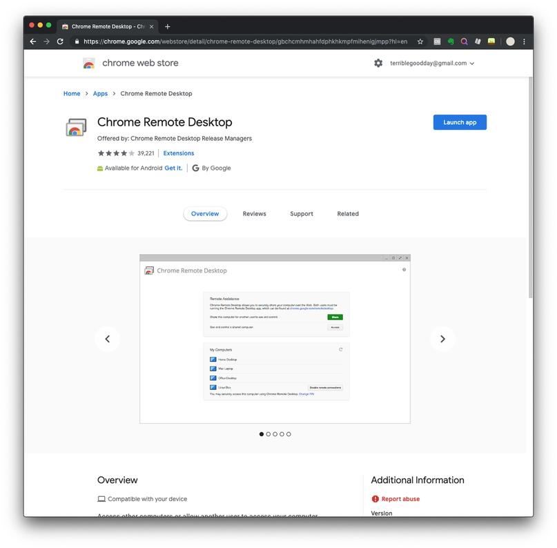 Получение помощи во время занятия через Chrome Remote Desktop