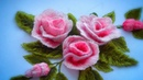 Hand Embroidery How to embroider a rose Как вышить розу