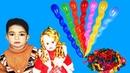 Noshi Playing with Spiral Balloons | Makining Spiral Balloons | NF_Kids_Tv