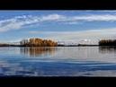 Красивые осенние пейзажи, деревенского озера.