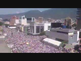 Новые протесты в Каракасе. Так выглядит венесуэльский Майдан. Жалкая кучка бездельников-пр