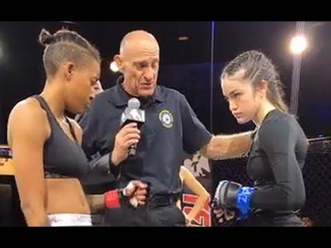 Mikaela Carpenter debut vs Triana Lynch Amateur Fight 2018 03 24 r WMMA