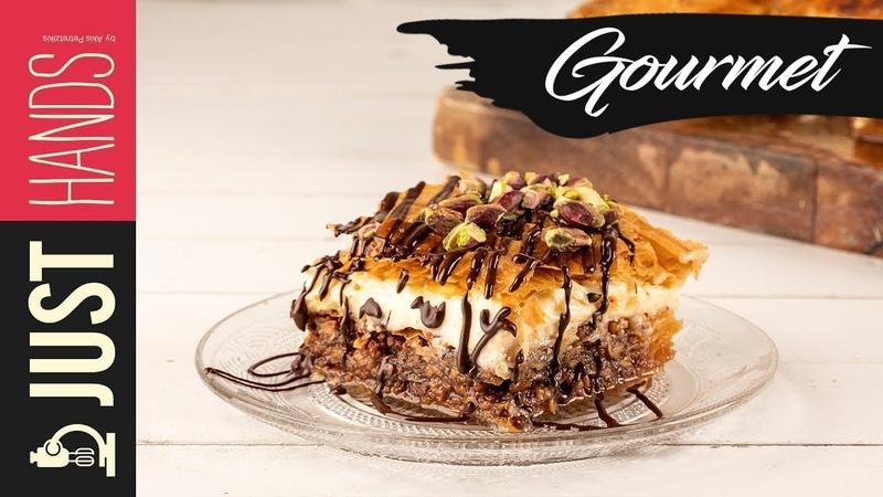 Baklava with crème patisserie | Akis Kitchen