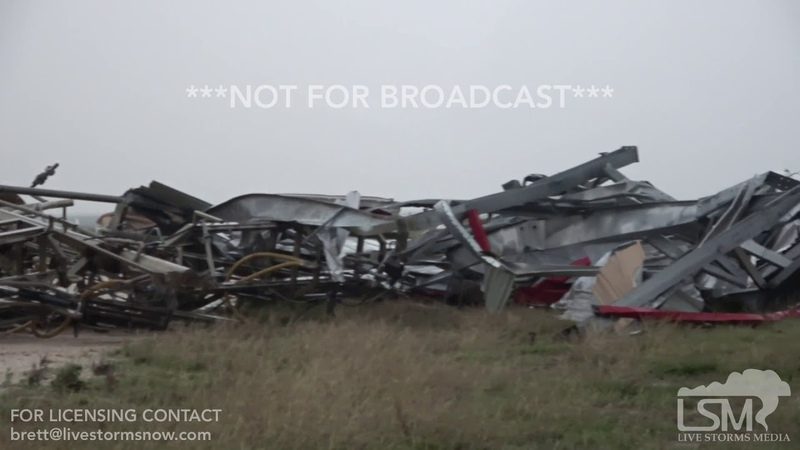 5-24-2019 Canadian, Tx Massive wedge tornado and damage, Laverne, Ok tornado damage home swept clean
