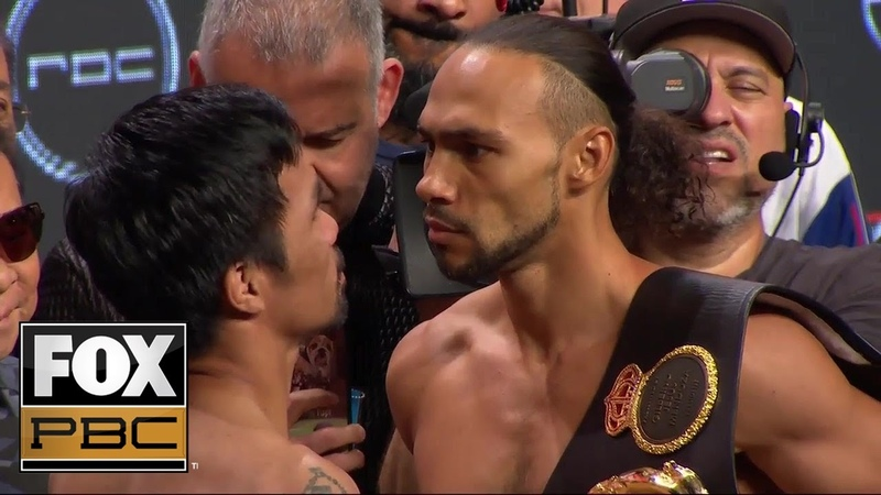 Manny Pacquiao and Keith Thurman face off before their massive title fight WEIGH INS PBC ON FOX