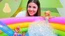 Barbie oyunu. Barbie ve Chelsea termal havuzunda! Eğitici çocuk videoları