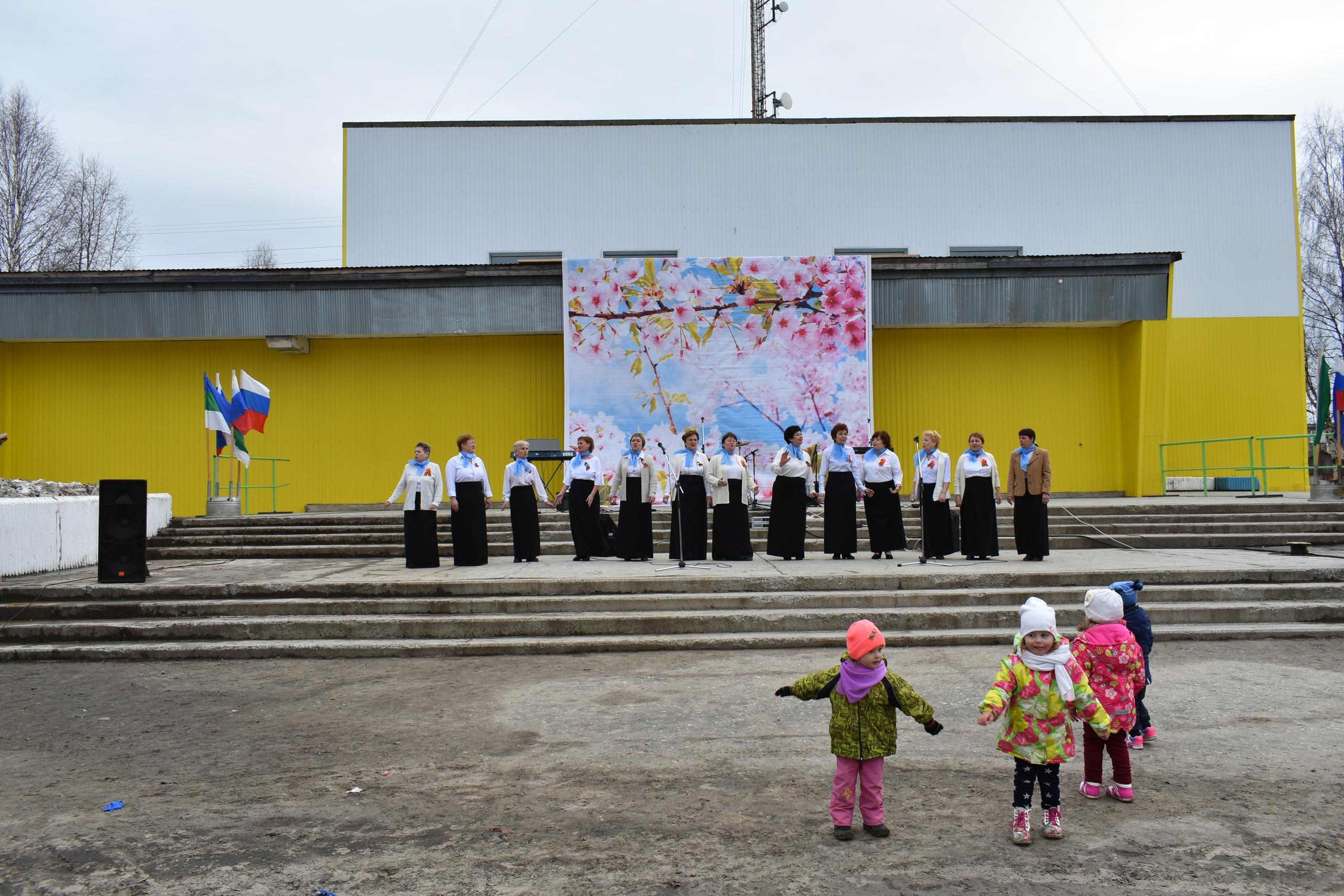 В день Победы, 9 мая, по улицам поселка Усогорск прошел «Бессмертный полк»