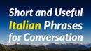 Short and Useful Italian Phrases for Conversation
