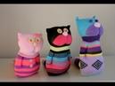 Adorable Handmade Sock Kittens -- DIY Stuffed Sock Dolls