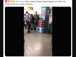 Germany Allahu Akbar! Finally cheap bargains and offers for cuddly bed linen at Aldi Inshallah...