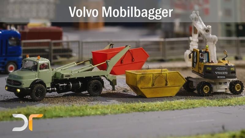 Volvo EW 180 B Mobilbagger auf Reisen und bei der Arbeit   RC 187