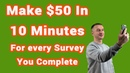 💰 Make $50 For Every Survey You Complete (10-20 Minutes)