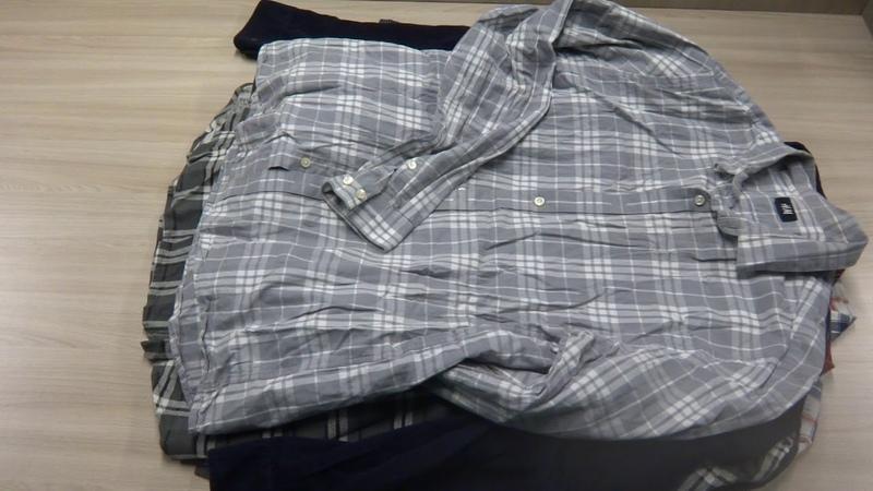 Рубашки мужские теплые Англия секонд хенд оптом. Лот 5