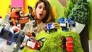Transformers Tobotlar oyuncakları. Blaze yi uçurumdan kurtarıyoruz!