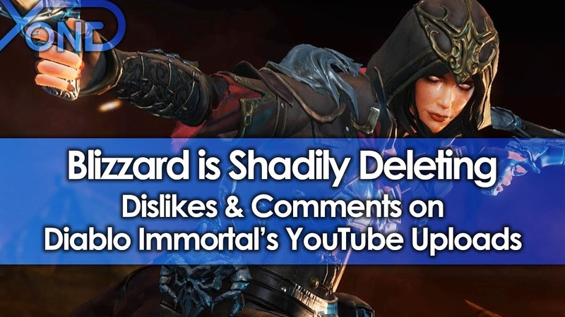 Blizzard is Shadily Deleting Dislikes Comments on Diablo Immortals YouTube Uploads