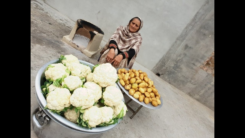 Aloo Gobi Recipe Prepared By My Granny gobhi ki sabzi Veg village food Village Life recipe