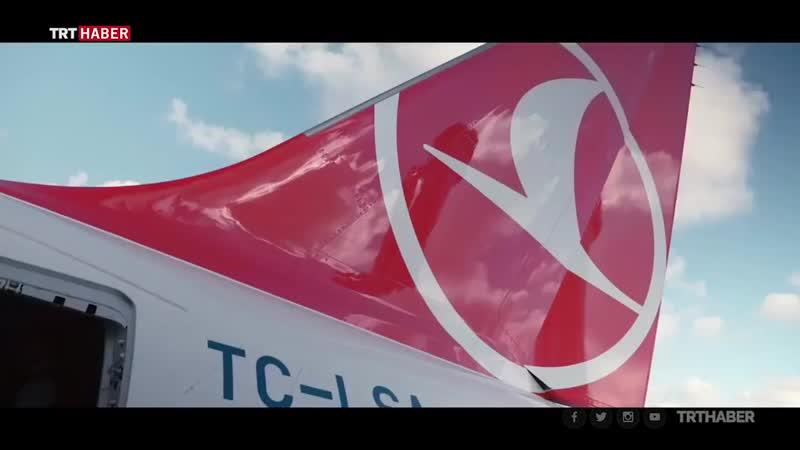 THYden TEKNOFESTte Türk Yıldızları ile THY uçağının tarihi uçuşuna klip