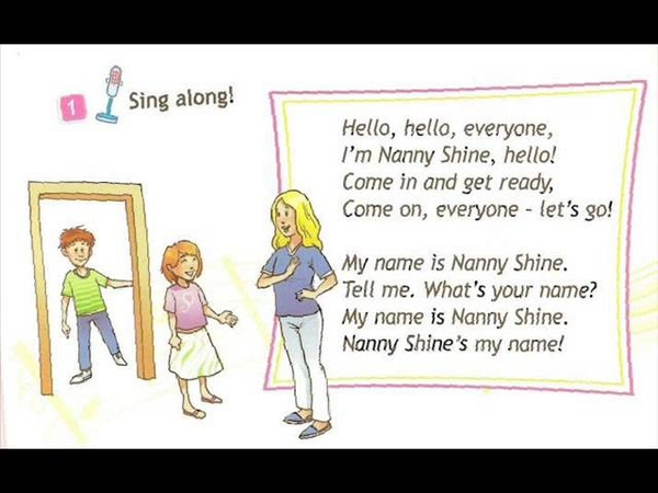 English for children Spotlight 2 Page 4 ex 1 Let's Go chant