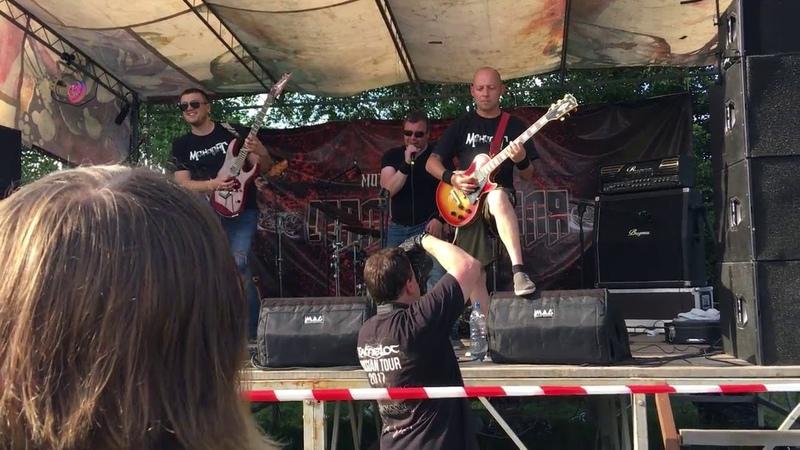 Выступление группы Монолит на мото рок фестивале Стальная воля 2018