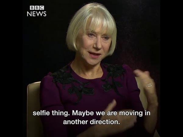 Helen Mirren Peak selfie