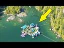 Семейная пара уже 25 лет живёт в прямом смысле на плаву, они построили огромный дом на воде