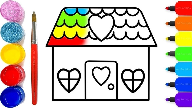 Coloring House | Paint for Children and Drawing for Kids