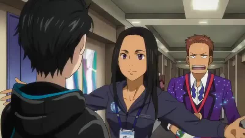 Момент из 9 серии • Юри на льду • Yuri on Ice.360.mp4