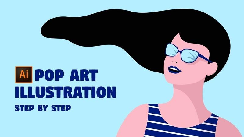 GIRL CHARACTER Illustration | Illustrator Tutorial (Modern Pop Art)